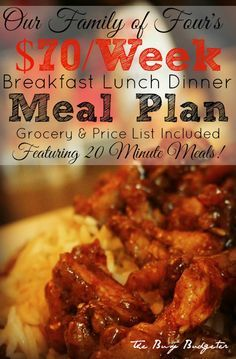 We've rounded up 11 of the BEST FREE meal plans so you can save time feeding your family! Tons of recipes - all on a budget! Family Meal Planning, Budget Meal Planning, Cooking On A Budget, Budget Weekly Meal Plan, Weekly Menu, Frugal Meals, Budget Meals, Easy Meals, Budget Recipes