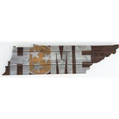 """Tennessee HOME State Wooden Sign (28"""" x 7.5"""")"""