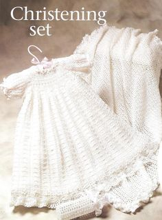 Inspiration Crochet baby Christening Gown