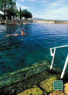world's largest spring-fed swimming pools at Balmorhea State Park in west Texas.