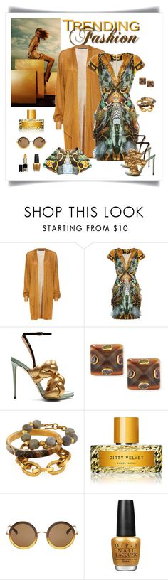 """Alexander McQueen Snake Print Dress Look"" by romaboots-1 ❤ liked on Polyvore featuring Whiteley, Haider Ackermann, Alexander McQueen, Marco de Vincenzo, Ashley Pittman, Vilhelm Parfumerie, The Row and OPI"