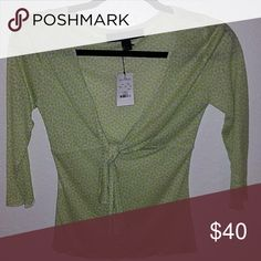 Express Not Top NWT Lime green and blue women's top by Express extra small. Brand new with tags never worn asking $40 Express Tops Blouses