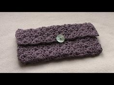 ‪EASY crochet purse tutorial - how to crochet a clutch bag / purse / handbag‬‏ - YouTube