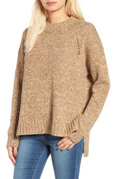 Free shipping and returns on BP. High/Low Knit Pullover at Nordstrom.com. A soft, multicolored marled yarn defines a cozy knit pullover with slouchy-chic dropped shoulders and a split high/low hem.