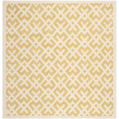 Safavieh Chatham Light Gold/Ivory 7 ft. x 7 ft. Square Area Rug - CHT719L-7SQ - The Home Depot