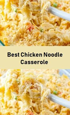 Best Chicken Noodle Casserole - Food Menu Chicken Egg Noodle Casserole, Potatoe Casserole Recipes, Rice Casserole, Easy Chicken And Noodles, Baked Chicken Recipes, Broccoli Rice, Chicken Broccoli, Meal Ideas, Dinner Ideas