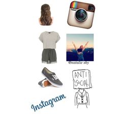 I'm not gone! by nataliesky on Polyvore featuring Topshop, ONLY and Vans
