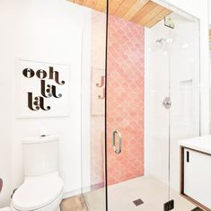 Large Pink Moroccan Fish Scale Tiles |  Mercury Mosaics - A strong contender for the back shower wall in the master.