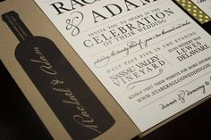 Rustic Vineyard Wedding Invitation Collection by LaBelleVieDesign, $8.00