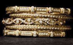 Doris Panis stackable diamond bangle bracelets