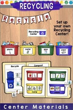 Practice sorting recyclables in your own mini Recycling Center with these Recycling Labels, File Folder Games, and Recycling Activities! Sort recyclable items from compost, match recyclables to their recycling bin, and use the writing prompt to explain why recycling is important. These activities were originally created for a special education classroom but can be used with any class learning about recycling! Take a peek at the preview for a more detailed view of what you'll get.