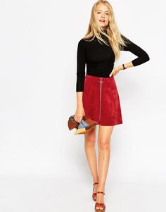 My fave suede skirt in an all new shade... YUS!