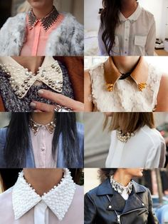 LeVictorion: Fashionspiration for Women: Collars Trash To Couture, Daily Fashion, Fashion Beauty, Collars, Spring Summer, Festival Wear, Passion For Fashion, Fashion Brand, What To Wear