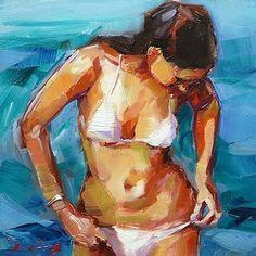 """""""Badende"""" - Original Fine Art for Sale - ©Jurij Frey"""