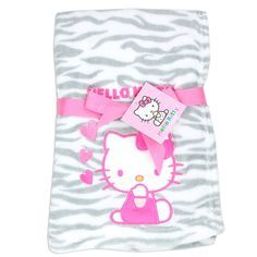 Hello Kitty Baby Girl's Plush Blanket