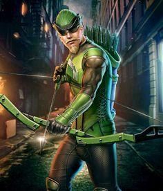 Green Arrow from Injustice 2 Mobile Green Arrow 4 Dc Comics Heroes, Marvel Heroes, Marvel Dc, Marvel Comics, Injustice 2 Game, Green Arrow Tv, Arrow Costume, Arrow Dc Comics, Arrow Oliver