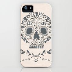 LEAF SKULL iPhone Case by Kelli Murray on Society6 $35.00
