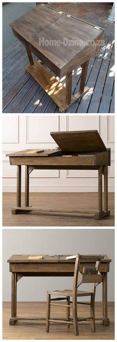 Flip-top Reproduction School Desk For Child
