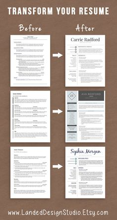 Completely transform your resume for $15 with a professionally designed resume template!