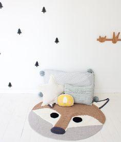 tapis renard chambre enfant - fox playmat kidroom