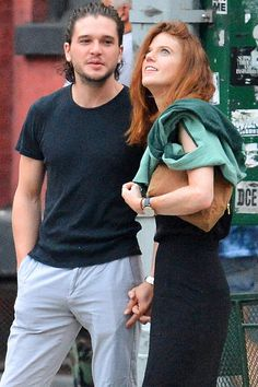 Kit Harington and Rose Leslie Walk Hand in Hand Through NYC