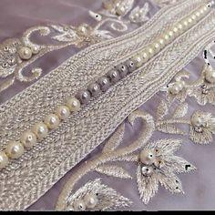 Andalusian Princesses   Nuriyah O. Martinez   ج Zardozi Embroidery, Beaded Embroidery, Embroidery Dress, Hand Embroidery Designs, Embroidery Patterns, Embroidery Stitches, Tambour Beading, Abaya Designs, Moroccan Caftan