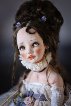 Kolombina is One Of A Kind doll, a real masterpiece.  The doll is made of polymer clay