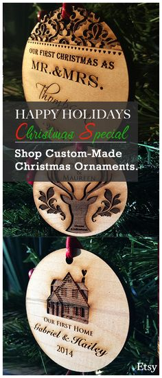 FREE GIFT BOX ! Personalize your own Christmas ornament early this Christmas and get our Early Bird Special Pricing.