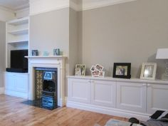 alcove cabinets - we don't have a fireplace. Wonder how much it would cost to have them going right across.