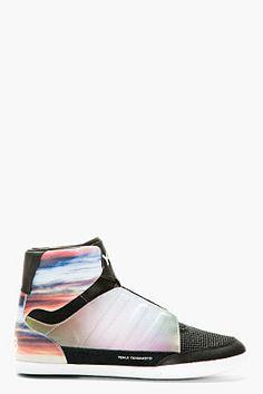 Y-3 Mauve Honja High-top Sneakers for men | SSENSE