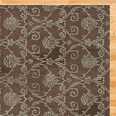 Chocolate Damask Jute and Wool Rug from World Market. PS