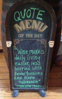 Ben Franklin Wine Quote
