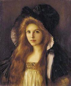 Albert Lynch (Peruvian artist, 1851-1912) Woman in a Large Hat