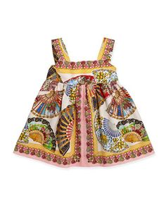 Fan-Print Empire Dress, 3-24 Months  by Dolce & Gabbana at Neiman Marcus.