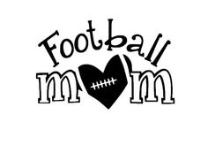 Football Mom Car Decal Heart Love by 2VinylDivas on Etsy