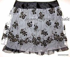 TORRID NWT Womens PLUS 14 1X Black Floral Mesh SKIRT Knee Length DRESSY Holiday #Torrid #ALine