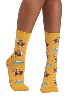 Alpaca for Vacation Socks, #ModCloth
