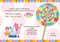 Candy Sweet Shop Birthday Invitation