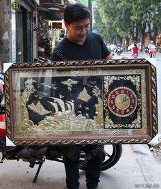 Tranh Đồng Hồ Thuận Buồm Xuôi Gió Đẹp - Đồ đồng Bảo Long