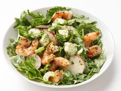 Satisfying, fast-cooking shrimp are showcased in this Shrimp and Avocado Salad, and are the ultimate weeknight salad topper.