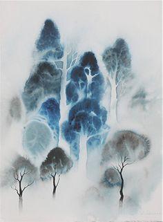 Woodland  by Eyvind Earle  So subtle ...the essence shows