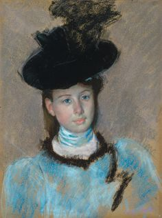 Mary Cassatt, The Black Hat 1890 on ArtStack #mary-cassatt #art