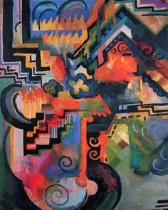 August Macke - Homage to Johann Sebastian Bach, 1912.