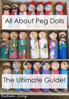 Making Peg Dolls- The Ultimate Resource List (With 3 Insider Tips!) Making Peg Dolls- The Ultimate Resource List (With 3 Insider Tips! Wood Peg Dolls, Clothespin Dolls, Doll Crafts, Diy Doll, Wooden People, Catholic Crafts, Kegel, Doll Painting, Wooden Pegs