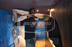 RV Interior- in progress Hanging the clouds #builtbyaxle #snugmobile #snuggle #customfabrication #clouds #coollighting