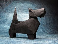 origami scottie - which takes you to an amazing flickr site with other animals