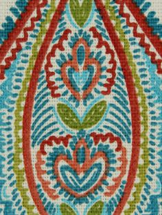 Paisley Upholstery Fabric by the Yard
