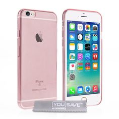 Yousave Accessories AP-GA02-Z857 Super Slim Gel Cover for iPhone 6S - Pink. iPhone 6S Case: Ultra Thin Gel Cover To Fit The iPhone 6S. Clear Screen Protector & Soft Micro Fibre Polishing Cloth. TPU Gel Protective Skin Offering Your Mobile Phone Extra Protection. 0.6mm Silicone Case With Cut Outs For Camera / Charger And All Other Buttons And Features. Apple iPhone 6S Accessories.