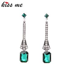 Sparkling Evening Dress Imitation Emerald-Jewelry New Arrival  Ladies Long Drop Earrings Who like it ?Visit our store --->  http://www.servjewelry.com/product/sparkling-evening-dress-imitation-emerald-jewelry-new-arrival-2016-ladies-long-drop-earrings-factory-wholesale/ #shop #beauty #Woman's fashion #Products #homemade