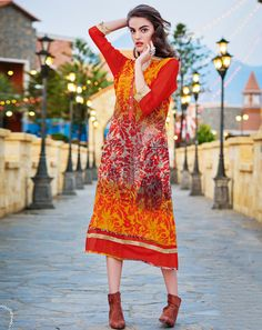 Buy Multi Multicoloured Georgette Kurta for women Online  At Flash Sale | Styletag, India